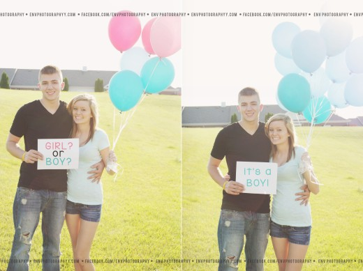 My very first gender reveal session